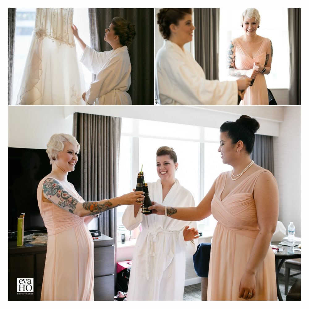 Cheers To The Day Westin Hotel Wedding Preparation